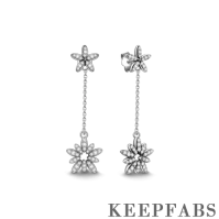 Ice Flower Earrings Silver