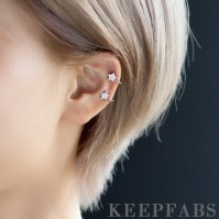 Rhinestones Five-pointed Star Ear Clip