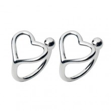 Hollow Heart-shaped Ear Clip