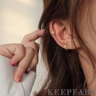 Shining Star Ear Bone Clip Plated Real Gold