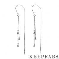 Droplet Shaped Ear Lines Sterling Silver