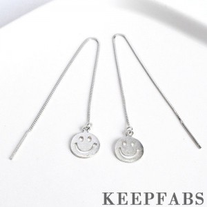 Smile Face Ear Lines Sterling Silver