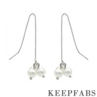 Three Pearls Ear Lines Sterling Silver