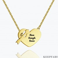 Engraved Hang Tag Necklace 14k Gold Plated Silver Z901554283663