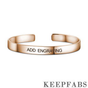 Engraved Bangle Rose Gold Plated