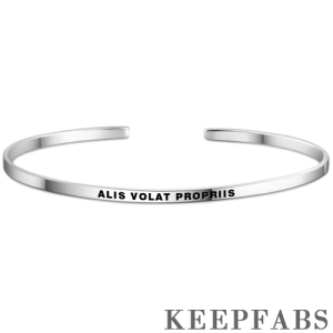 """Alis Volat Propriis"" Bangle Silver"