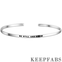 """Be Still And Know"" Bangle Silver"