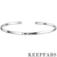 """I Am Loved"" Bangle Silver"