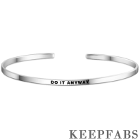 """Do It Anyway"" Bangle Silver"