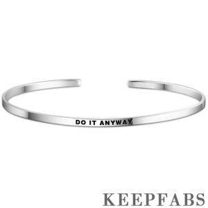 """""""Do It Anyway"""" Bangle Silver"""