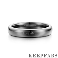 Engraved Men's Couple Rings Polished Black Tungsten
