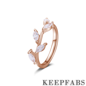 Vine Eternity Ring Rose Gold Plated Silver