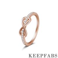 Infinite Love Eternity Ring Rose Gold Plated Silver