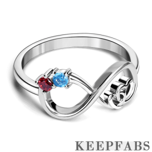 Infinity Love Eternity Mother's Ring Silver
