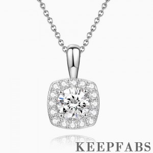 Personalized Birthstone Necklace Platinum Plated Silver