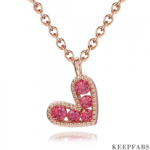 Rose Heart Necklace in Rose Gold Plated Z901562565475