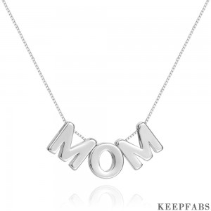 Mother's Day Gifts - MOM Letter Pendant Neckalce Z901562567377