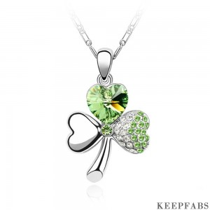 Lucky Clover Pendant Necklace St. Patrick's Day
