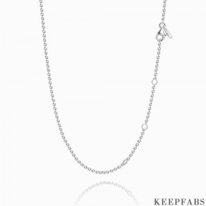 17.7in Rolo Chain Basic Necklace Silver-Length Adjustable