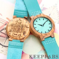 Blue Wooden Watch To My Dad
