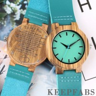Blue Wooden Watch To My Son