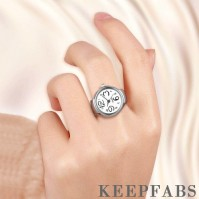 Ring Watch, Finger Ring Alloy Watch White Dial Unisex
