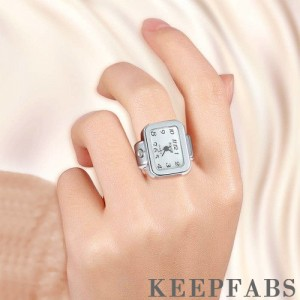 Finger Ring Watch, Square-shaped Quartz Fashion Watch Unisex