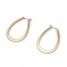 Flat Granular Earrings 43mm