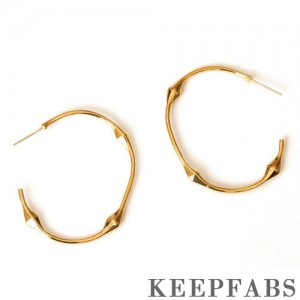 Golden Three-section Earrings 45mm