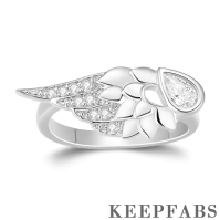 Angel Wing Ring Platinum Plated
