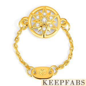 Romantic Star Ring 14K Gold Plated