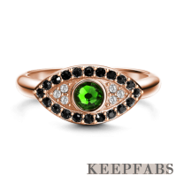 Keepfab Eye of the Devil Ring Rose Gold Plated Silver