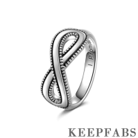 Men's Infinite Eternity Ring Silver