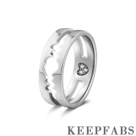 Men's Inseparable Love Couples Ring Silver
