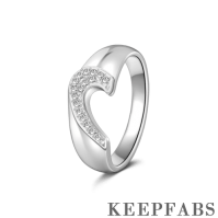 Men's Sweet Heart Couples Ring Silver