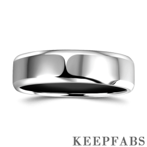 Men's Classic Silver Wedding Ring