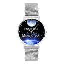 "Unisex I Love You to the Moon and Back"" Dial Watch 40mm"