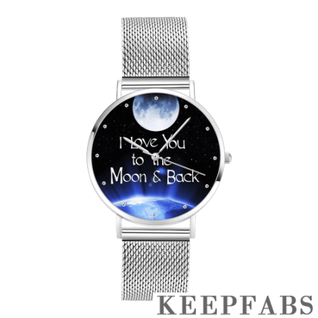 """Unisex """"I Love You to the Moon and Back"""" Dial Watch 40mm"""