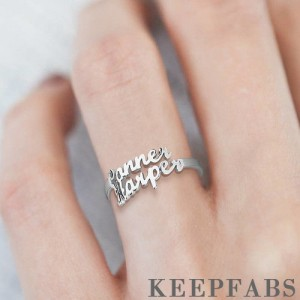 Two Name Ring Silver