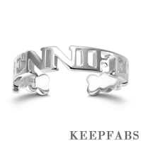Block Letters Name Ring Silver