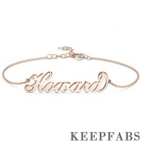Personalized Name Bracelet, Any Name Bracelet Rose Gold Plated