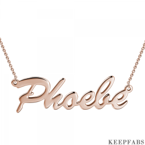 Custom Name Necklace Rose Gold