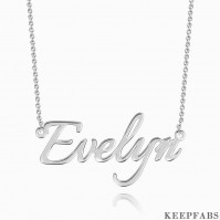 Personalized Name Necklace Silver Z901554080823