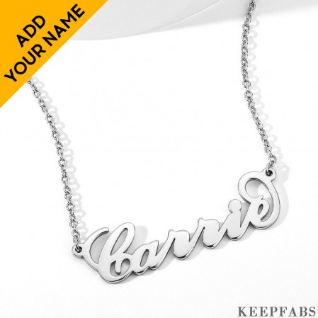 Carrie Style Name Necklace Copper