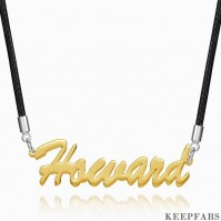 Personalized Men's Name Necklace Boyfriend Gift Rose Gold Plated Golden Z901562814380
