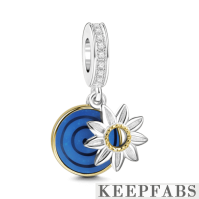 Let Your Light Shine Charm Silver