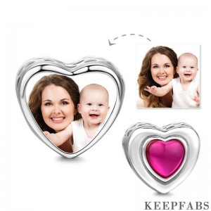 Love Heart Photo Charm