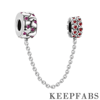 Hearts Safety Chain Silver
