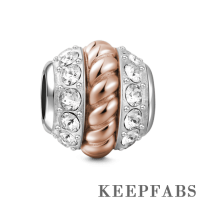 The Spiral Charm Rose Gold Silver