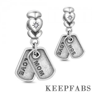 Mom and Son Dangle Charm